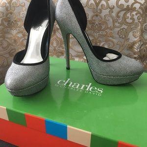 Charles David silver shoes